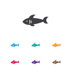 of animal symbol on sea vector image