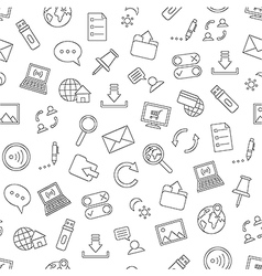 Pattern communication black icons vector image vector image