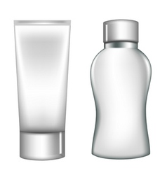 white plastic containers vector image vector image
