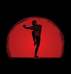 drunken kung fu pose vector image