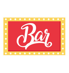 bar sign icon flat style vector image vector image