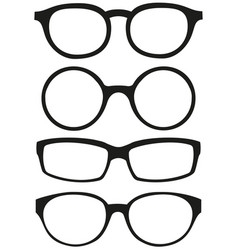 cartoon icon poster glasses spectacles silhouette vector image