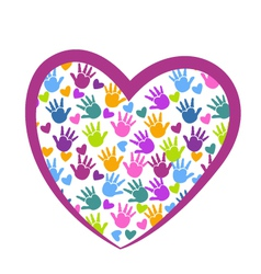 Hands of love logo vector image vector image