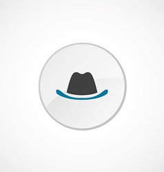 hat icon 2 colored vector image