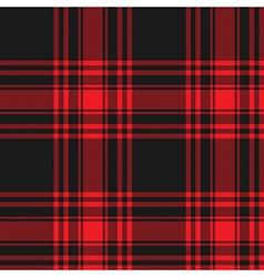 Menzies tartan black red kilt skirt fabric texture vector