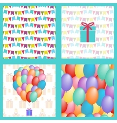 set birthday seamless vector image