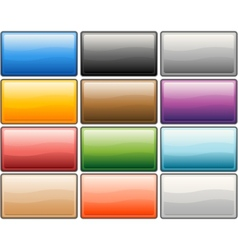 glossy media internet buttons vector image vector image