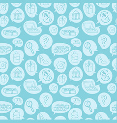 online shopping goods icons retail seamless vector image