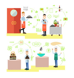 restaurant people in flat vector image vector image