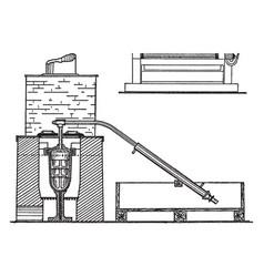 retort furnace for gold bullion vintage vector image vector image