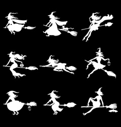 witchs set negative vector image vector image