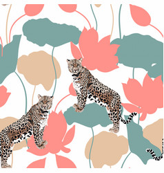 Abstract a leopard animal pattern vector