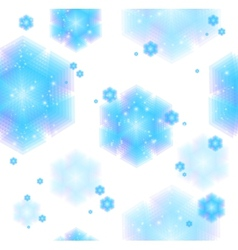 Abstract Christmas background with snowflakes vector image