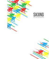 Alpine skiing background vector