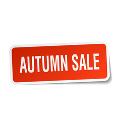 Autumn sale square sticker on white vector