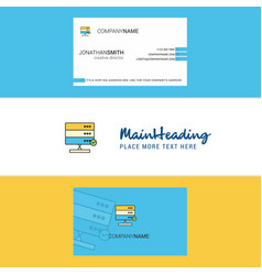 beautiful board logo and business card vertical vector image