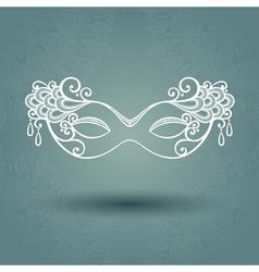 Beautiful Masquerade Mask vector image