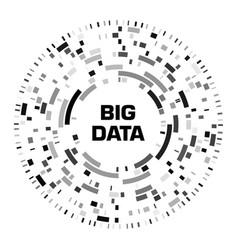 Big data visualization black futuristic circular vector
