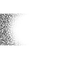 Black alphabet gradient on white background vector