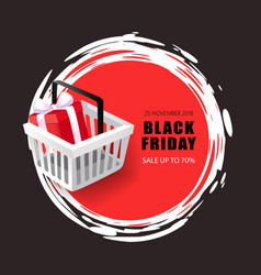 black friday sale 70 percent price reduction vector image
