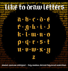 blackletter calligraphy font new odern gothic vector image