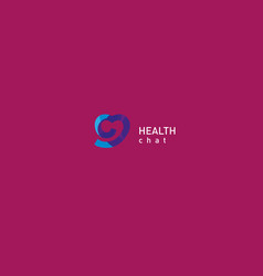 bright logo on medicine and health vector image