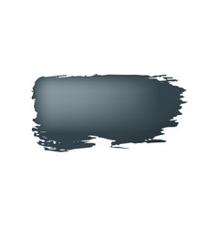 Brush stroke of black paint on white background vector