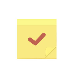 check comment mark message note task icon vector image