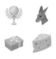 Cinematograph packing and other monochrome icon vector