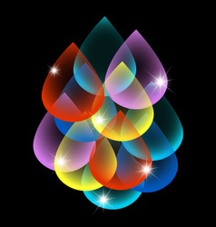 colored drops abstract vector image
