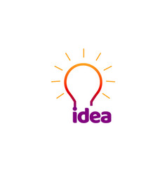 colorful idea bulb lamp logo symbol vector image