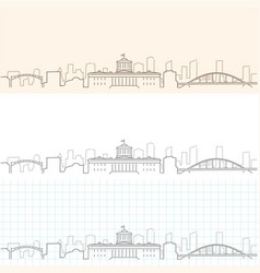 columbus hand drawn skyline vector image