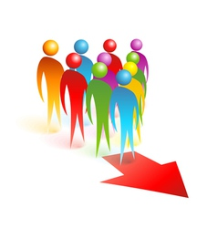 Concept color people vector image
