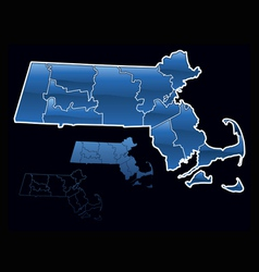 Counties of massachusetts vector