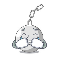 Crying wrecking ball isolated on a mascot vector