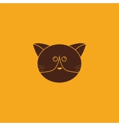 Cute cat Face vector