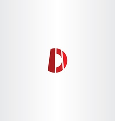 D letter d logo logotype sign icon vector
