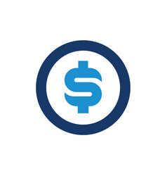 dollar money symbol with circle vector image