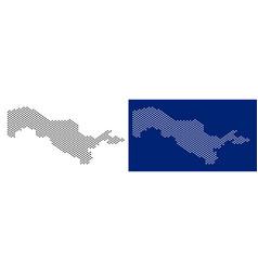 Dotted uzbekistan map vector