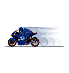 Extreme motor racer on bike design with shadow vector