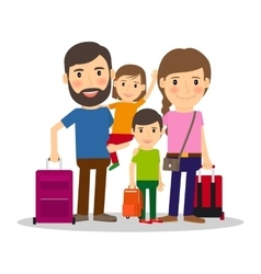 Family vacation with children vector image