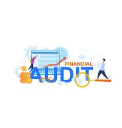 financial audit flat cartoon vector image