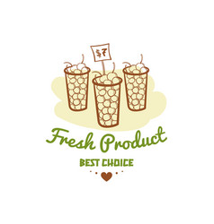 fresh product best choice badge vector image