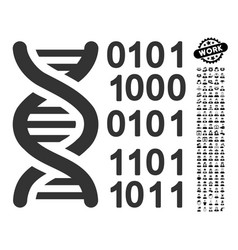 Genome code icon with work bonus vector