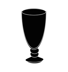 Glass cup icon vector