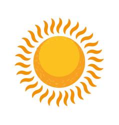 Glowing sun summer hot vector