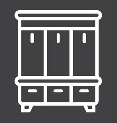 Hallway closet line icon furniture and interior vector