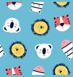 Hand drawing print design animals vector