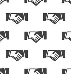 Handshake seamless pattern vector image