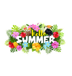 hello summer composition vector image